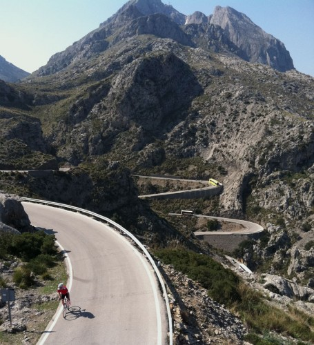 Sa Calobra, the most challenging climb on the island of Majorca.